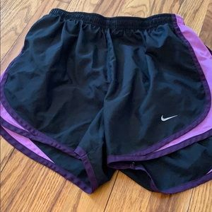 Nike Shorts Size Small. Black and Purple
